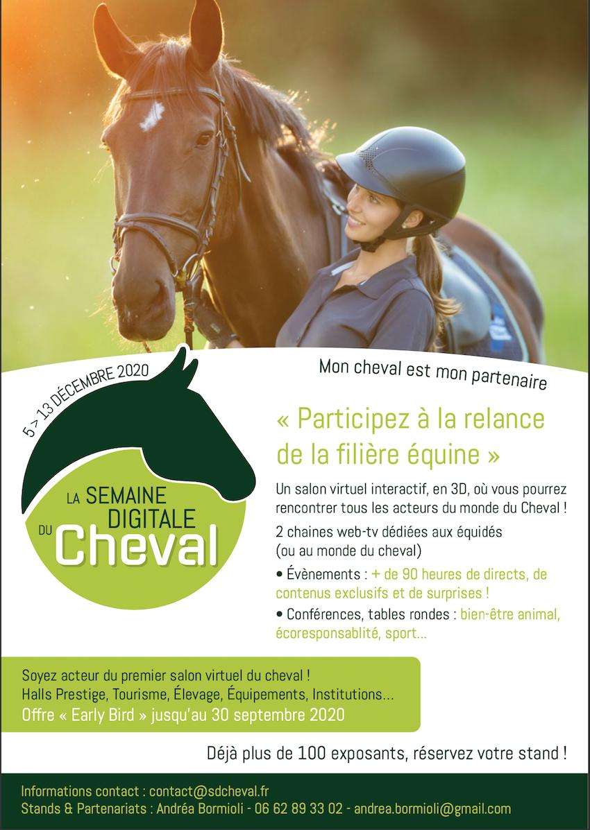 La Semaine Digitale du Cheval : rendez vous du 05 au 13 décembre pour une expérience inédite !