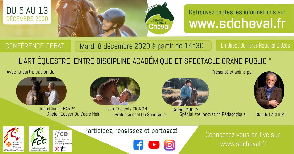 Débat conférence Semaine digitale du cheval