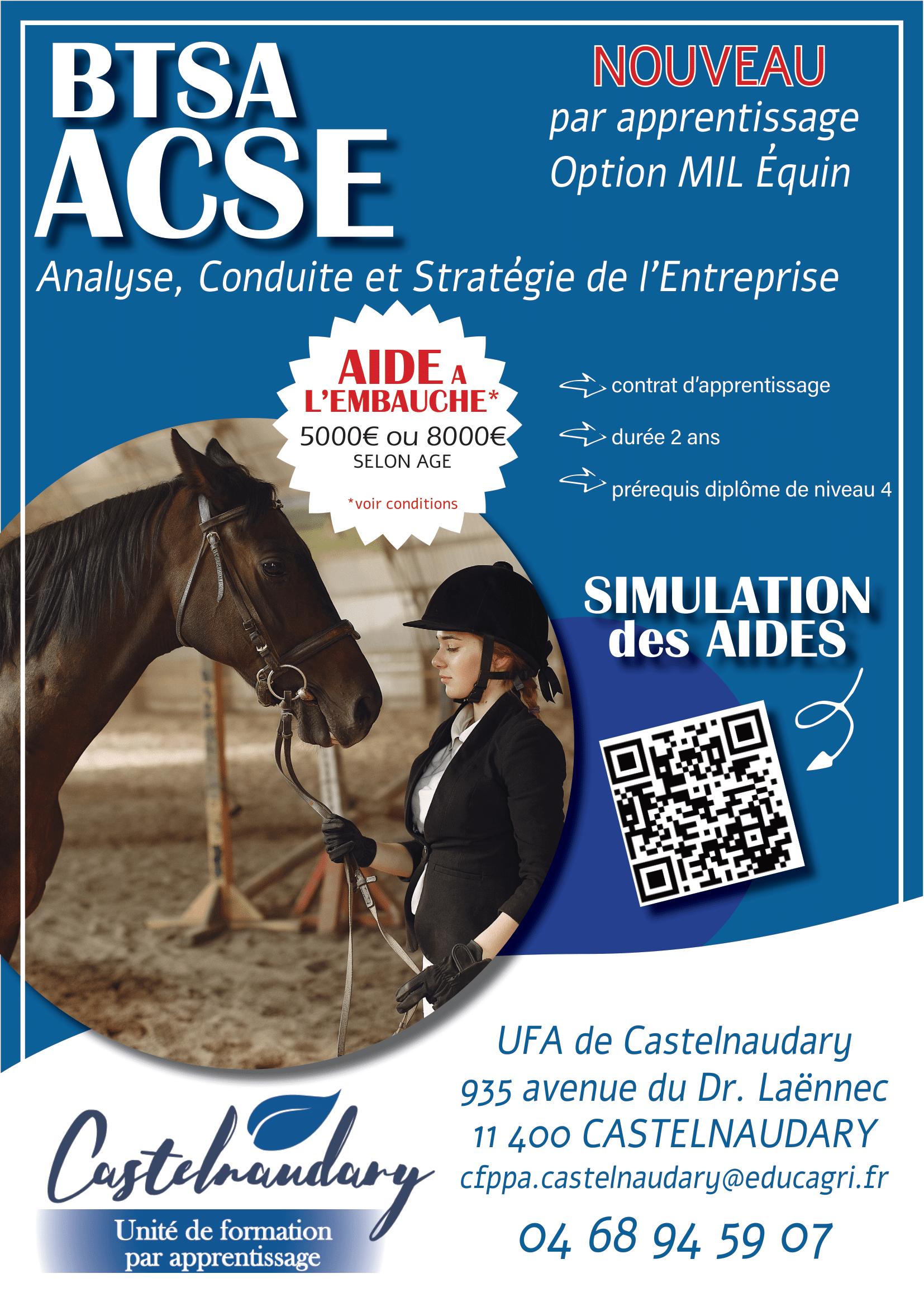 Ouverture d'un nouveau BTSA ACSE à Castelnaudary