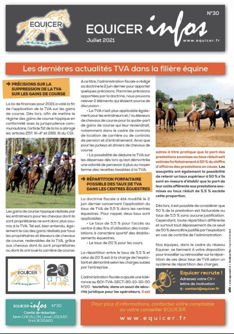 Les dernières actualités TVA dans la filière équine