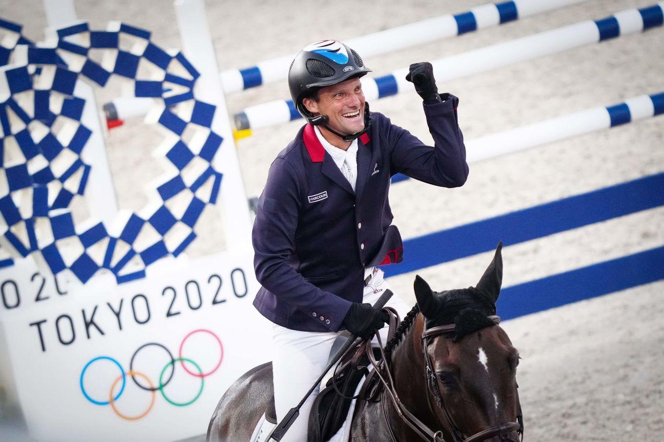 L'équipe de France de concours complet médaillée de bronze