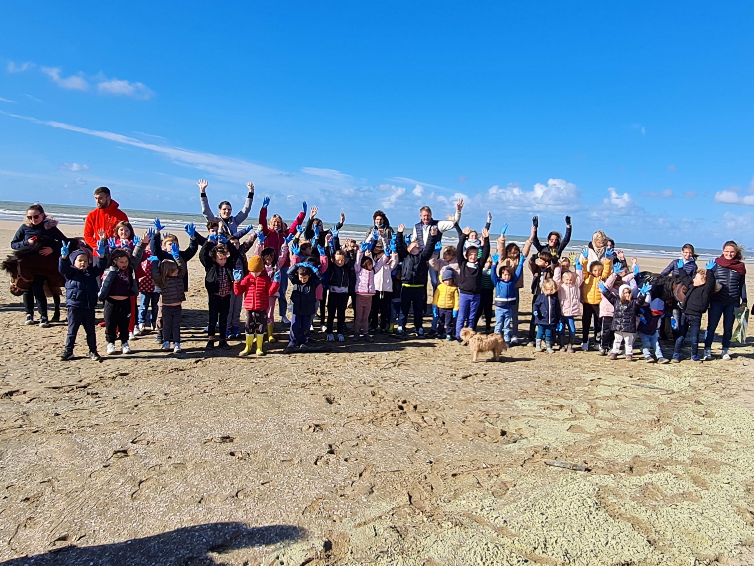 30kg de déchets ramassés sur la plage de Deauville !