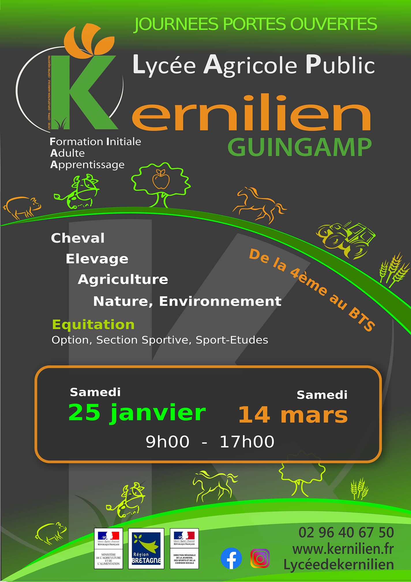 Journée Portes Ouvertes Lycée de Kernilien à Guigamp