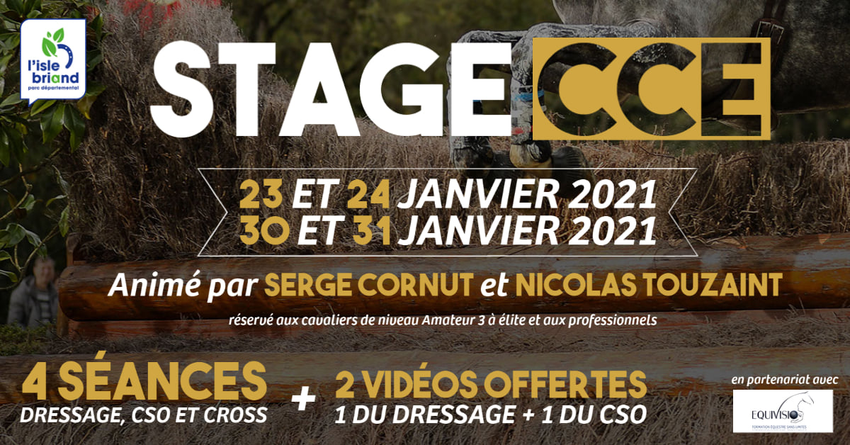 Stage CCE avec Serge Cornut et Nicolas Touzaint au Lion d'Angers