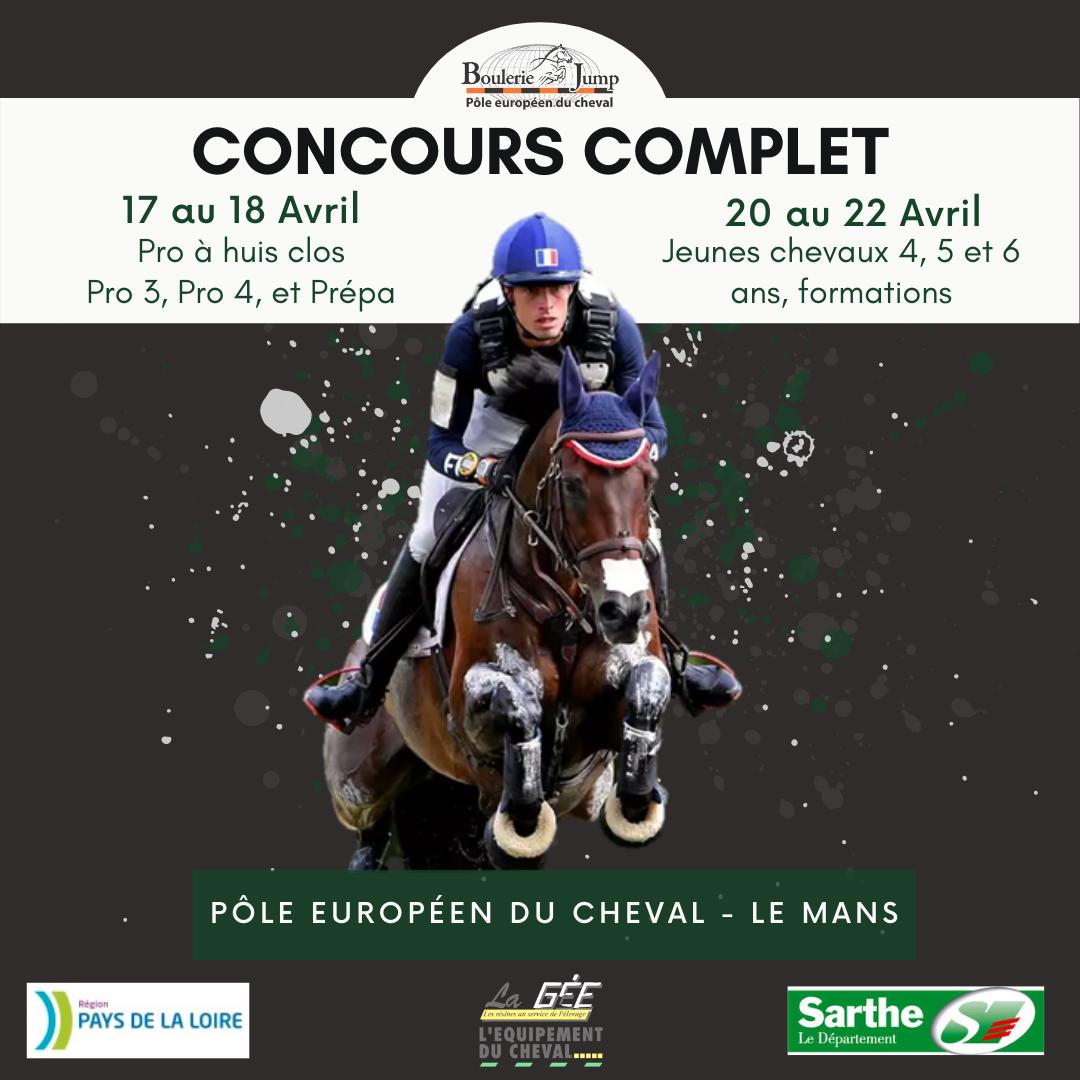 CCE Jeunes Chevaux et Pro - Le Mans [Huis Clos]