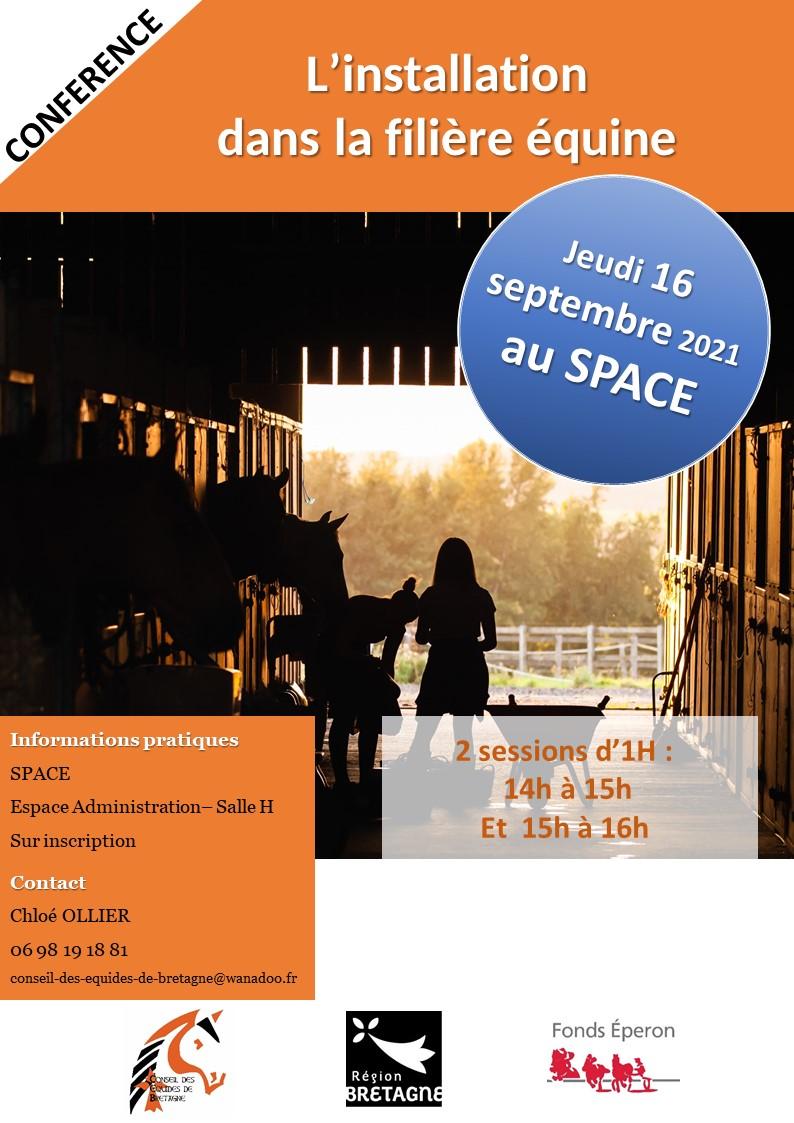 """Conférence """"L'installation dans la filière équine"""" - SPACE 2021"""