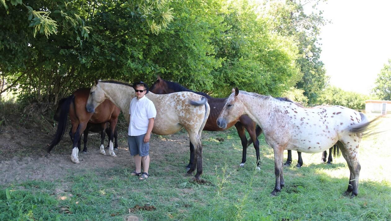 Dans les Coëvrons. Il crée un domaine où les chevaux sont rois
