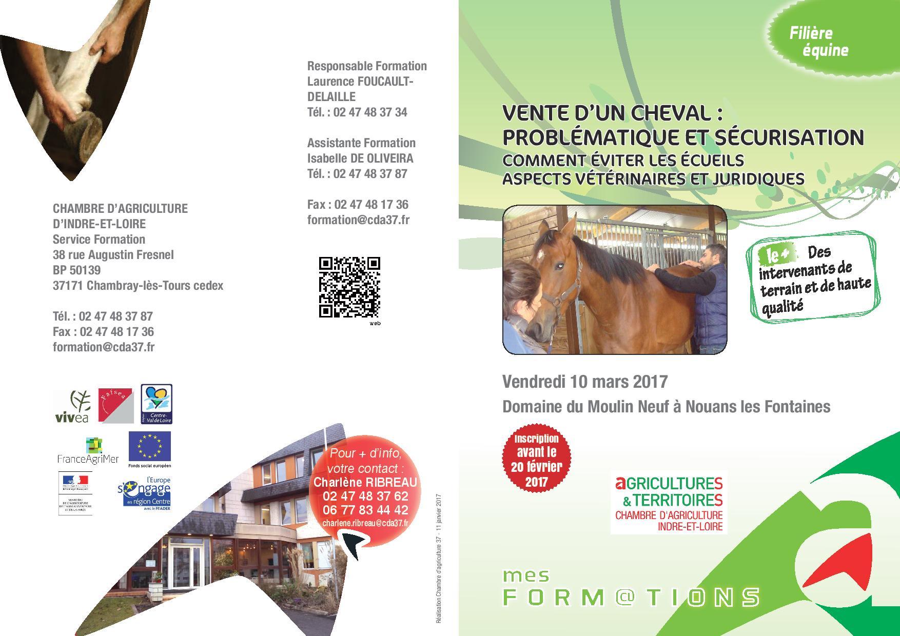 Formation : Vente d'un cheval : problèmatique et sécurisation